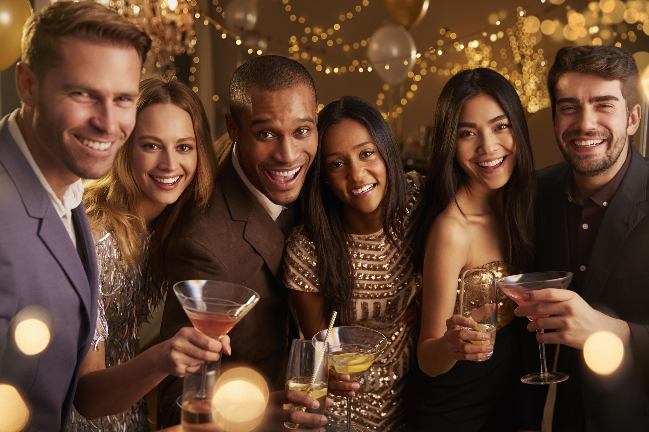 Kerstborrel met cocktails